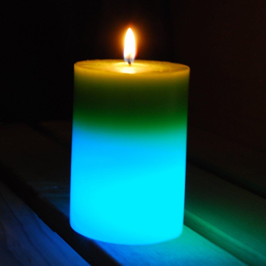 W/ärme Aktiviert LED Farbwechsel, 38/Stunden Brenndauer f/ür Outdoor, Garten Die Buzz Citronella LED Farbwechsel Kerze
