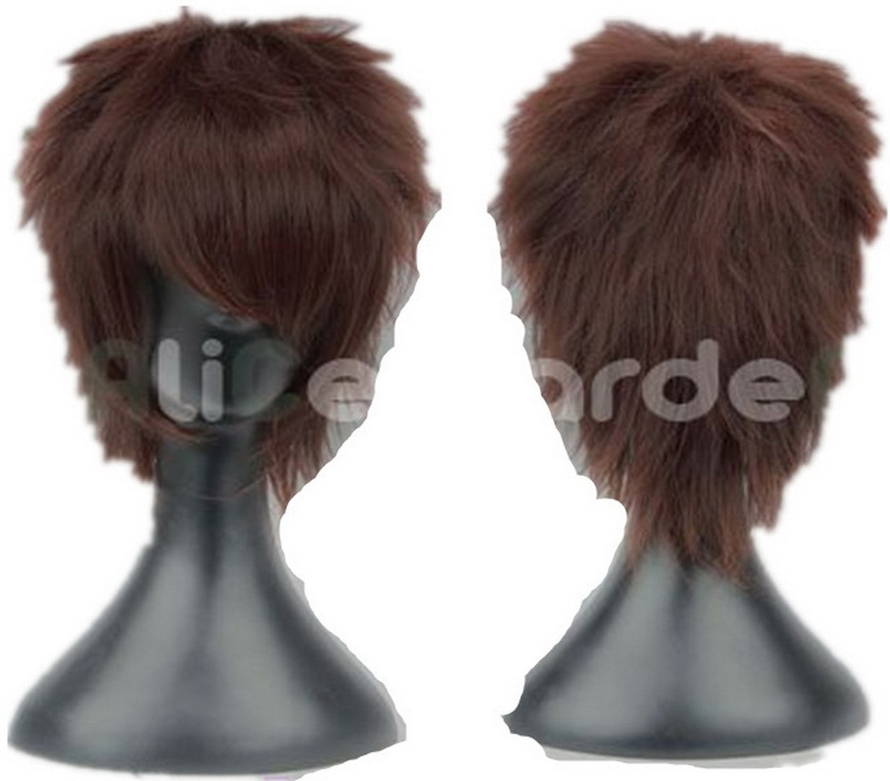 Coolsky Wigs Cosplay Short Gray Wig Costume Wig Lace Front