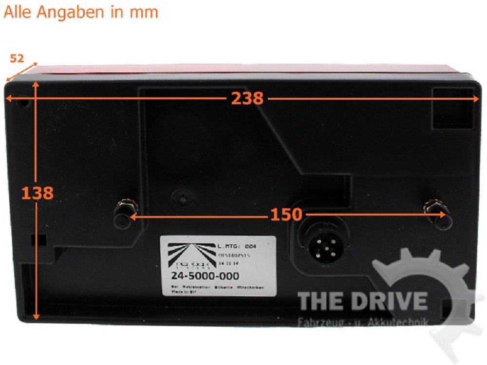 The Drive links R/ückleuchten Asp/öck Multipoint 1 I Satz rechts 13393 7m Anschlu/ßkabel 7-pol.
