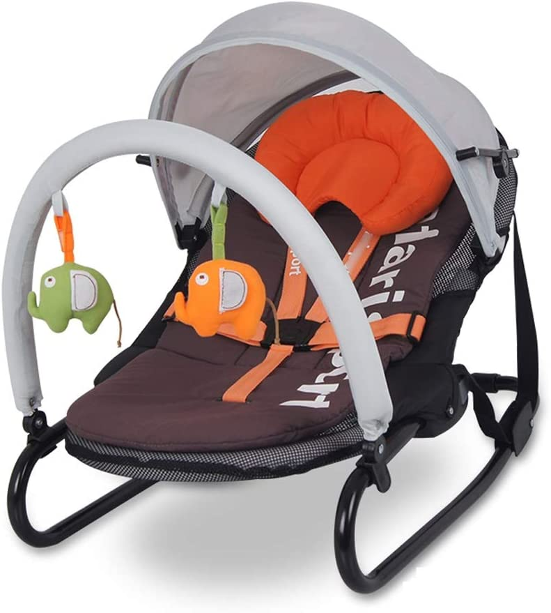 Byx- Aumente la Silla Mecedora para bebés Cuna Silla cómoda reclinable para bebés Silla Mecedora Columpio Cuna Cama para Batidos Cama para Mosquitos -Mecedora de bebé (Color : A)