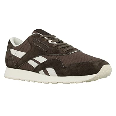 c8238387c3f Reebok Mens Classic Nylon Sktn Trainers in Terra Brown Chalk  Amazon ...