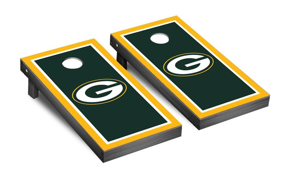 NFL Green Bay Packers Border Version Football Corn hole Game Set, One Size by Victory Tailgate (Image #1)