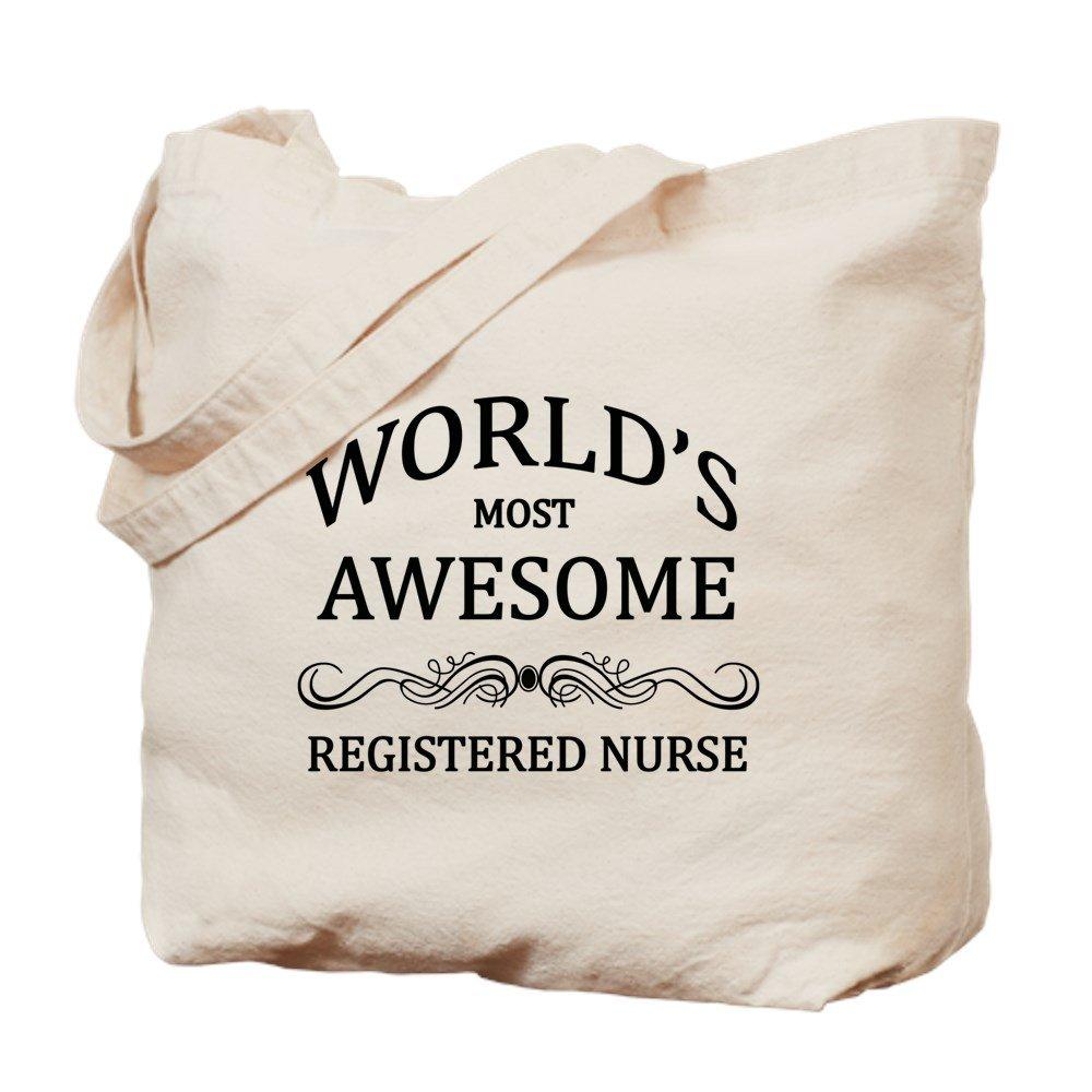 CafePress – 世界で最も素晴らしい登録看護師 – ナチュラルキャンバストートバッグ、布ショッピングバッグ B01E98U24W