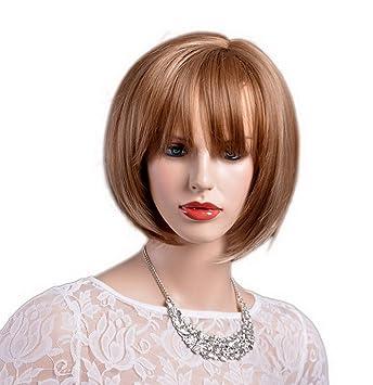 Amazon Com A Monamour Women S Blunt Bangs Layered Haircut Short