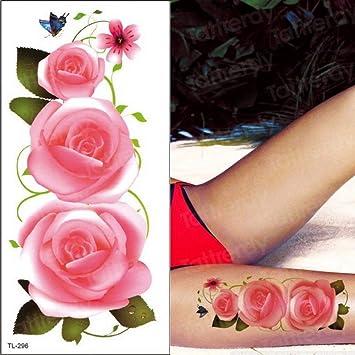 tatuajes de flores de color púrpura tatuaje impermeable para ...