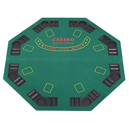 Gentil Lucky Tree 47u201d Foldable Felt Poker Table Top 8 Players Casino Blackjack  Texas Holdem Game