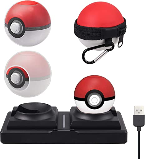 LiNKFOR Kit de accesorios para Pokeball Plus funda de transporte ...