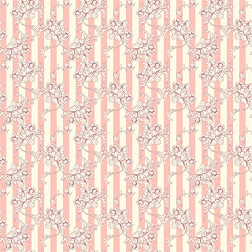 CSFOTO 8x8ft Background for Beautiful Floral Texture Photography Backdrop Pink Stripes Flower Pattern Birthday Party Decor Tablecover Child Adult Photo Studio Props Vinyl Wallpaper Tablecloth (Photo Album Digital 8')