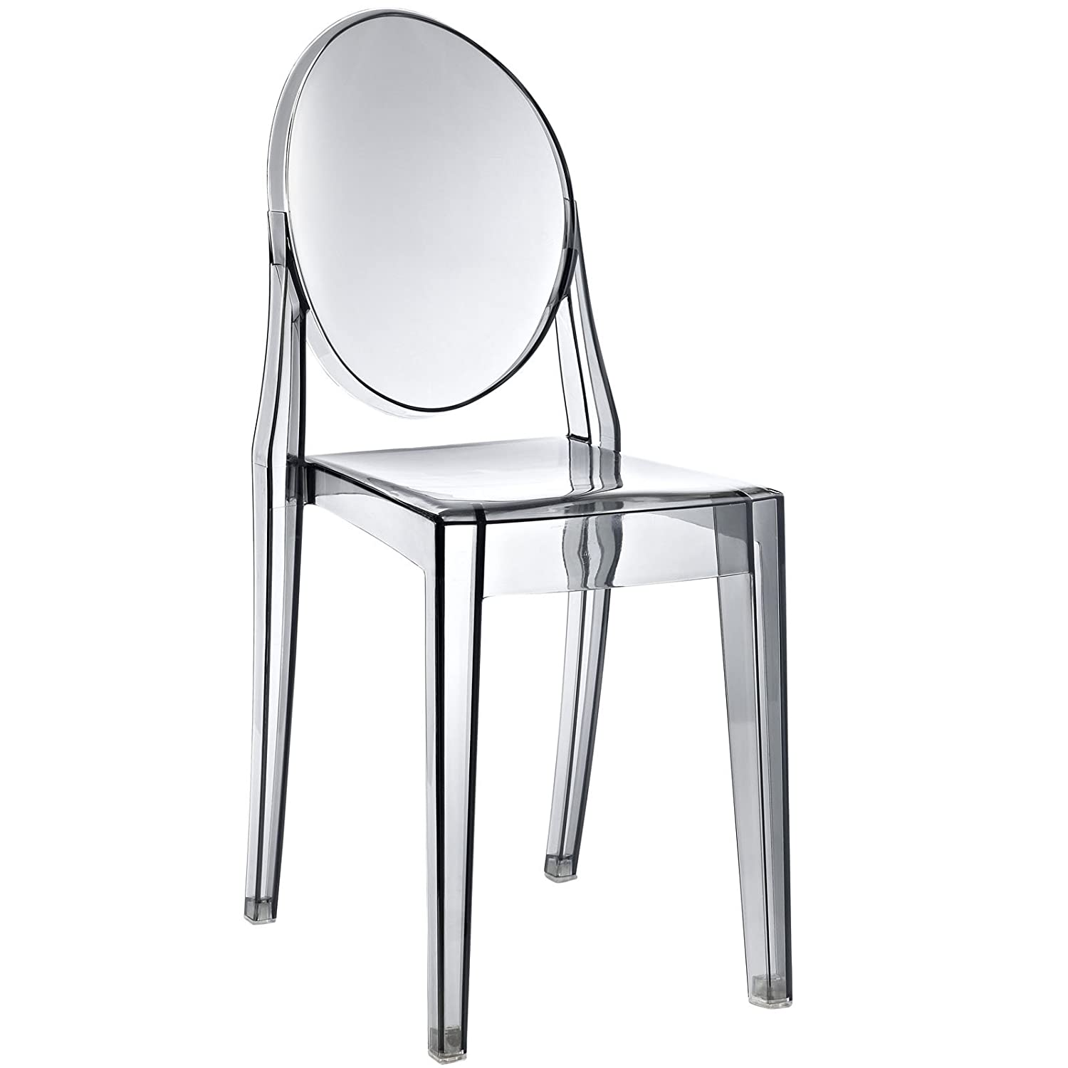 Amazon.com   Modway Casper Modern Acrylic Dining Side Chair In Smoked Clear    Chairs