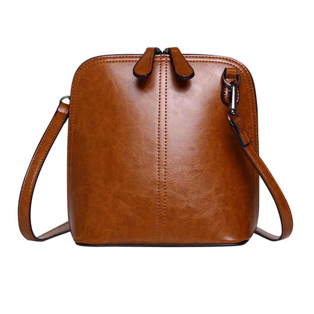 Women Girl Purses Leather Shoulder Bag Crossbody Clutch Handbag Clearance Tassel Messenger Strap Tote on sale Travel Kids Coin Phone Solid Satchel Card Holder Case (Brown)