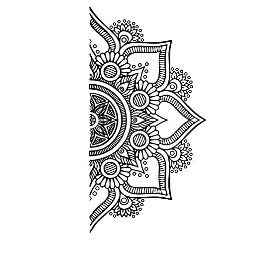Uranusin Patrón de Mandala Vid de la Flor de Pared Decorativos ...