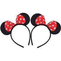 2 stuks rode boog hoofdbanden voor verjaardag, Halloween, party's, mama, jongens, meisjes, haarsieraden, mooie muis…