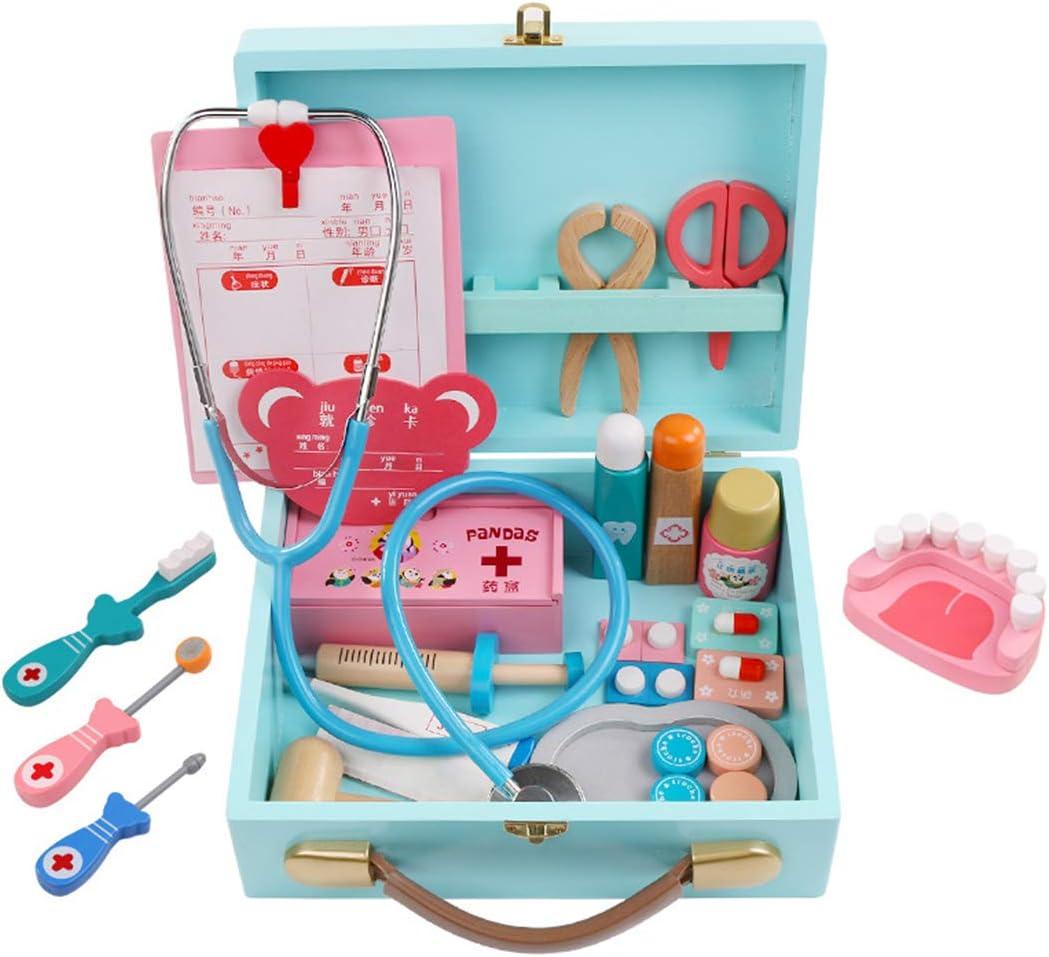 XUEE Doctor Toy Set, Wooden Doctors Kit - Estuche médico - Kit médico para Dentista - Doctor Pretend Play Juguetes para niños Niños Niñas de 3 años en adelante,B: Amazon.es: Hogar