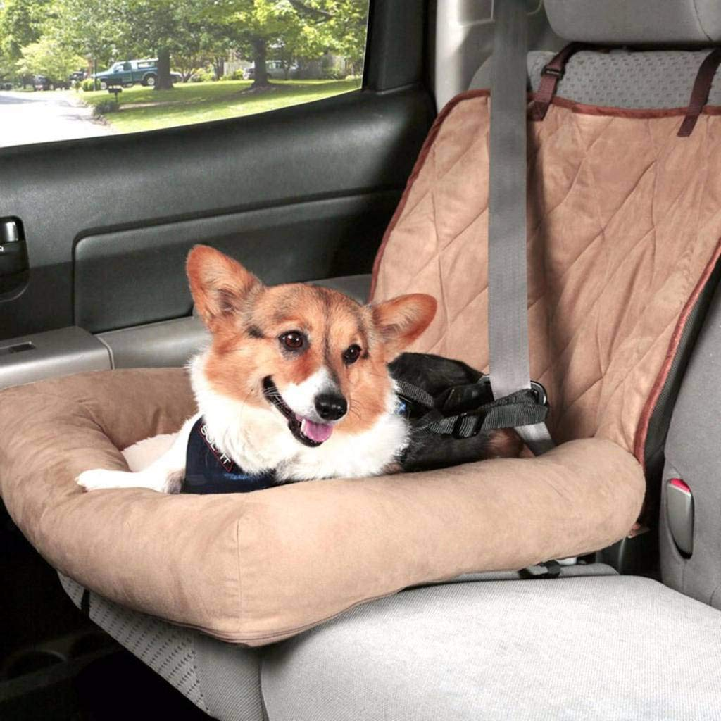 HAHY Dog Car Seat, Waterproof Washable Pet Front Booster Seats, Pet Travel Carrier Mat for Puppy