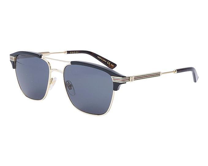 Amazon.com: Gucci gris anteojos de sol cuadrados gg0241s 002 ...