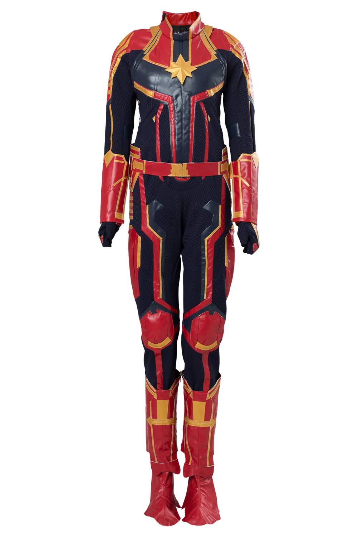 rotJade Avengers 4 Captain Marvel Carol Danvers Jumpsuit Outfit Cosplay Kostüm Super Hero Damen XXL B07PWCKPC2 Kostüme für Erwachsene Clever und praktisch  | Mangelware