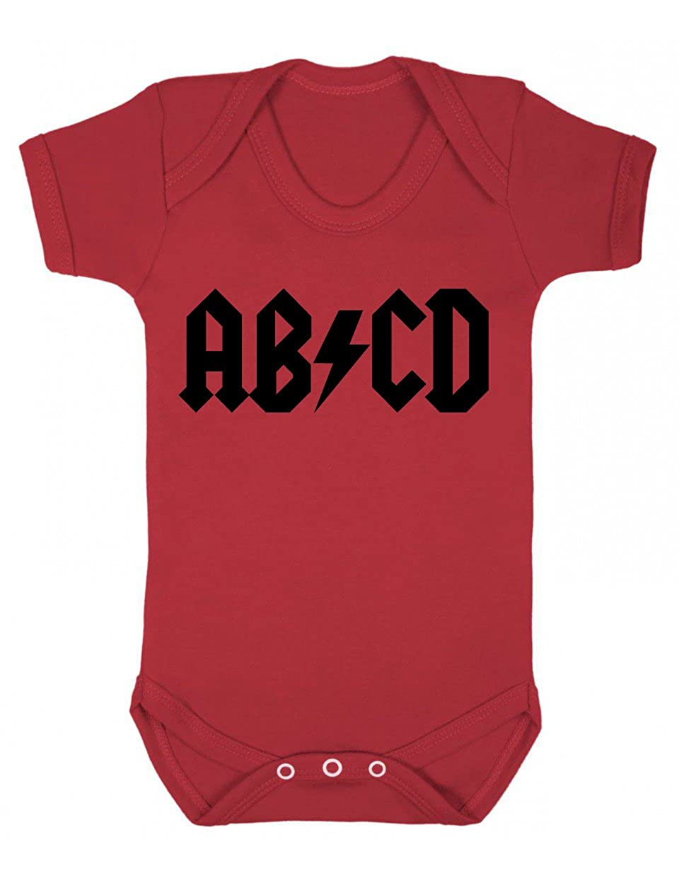 ABCD - ACDC Parody Fun Baby Playsuit BABYBS011