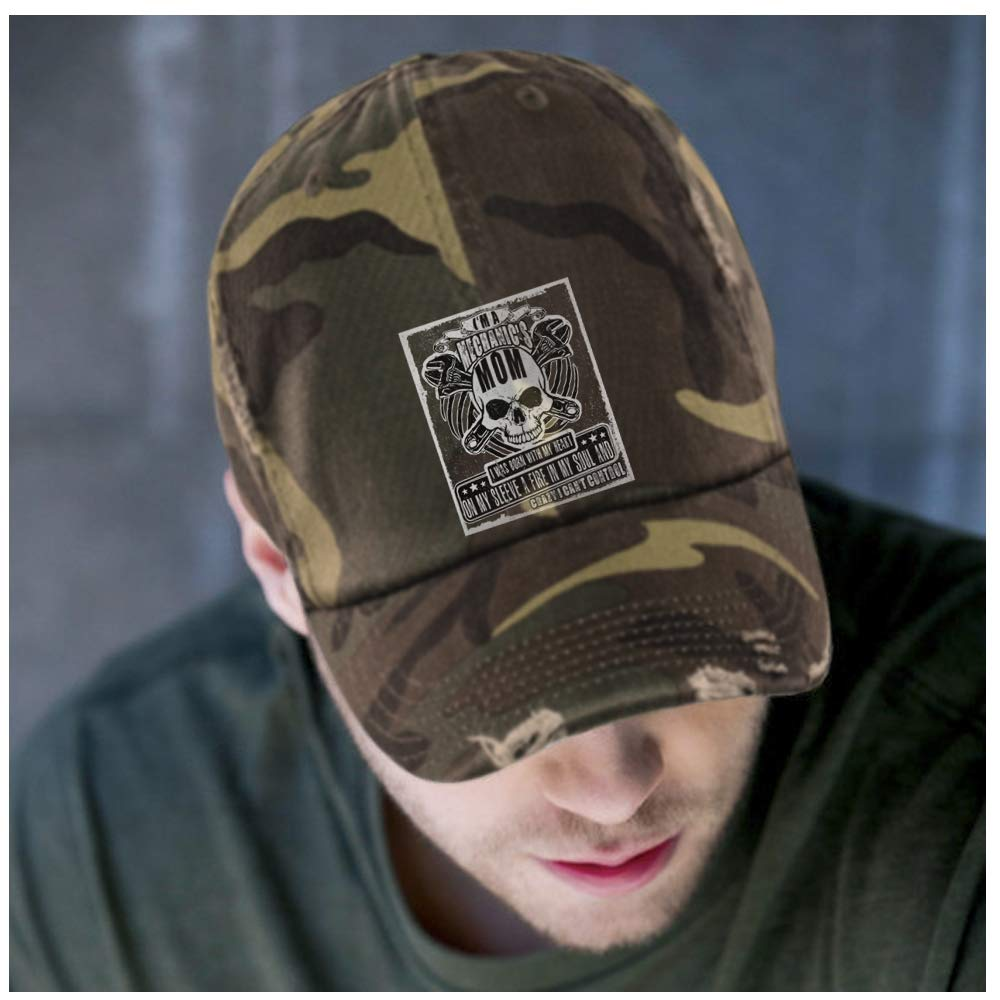 b6fcb34f0 Distressed Dad Cap Cap Cap - Military Camo With My Heart On My ...
