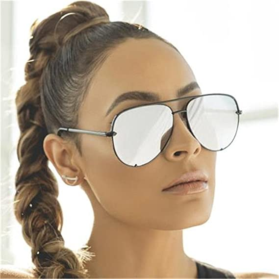 b1f1992566 Gun Pink Sunglasses Silver Mirror Metal Sun Glasses Brand Designer Pilot Aviator  Sunglasses Women Men Shades Top Fashion Eyewear