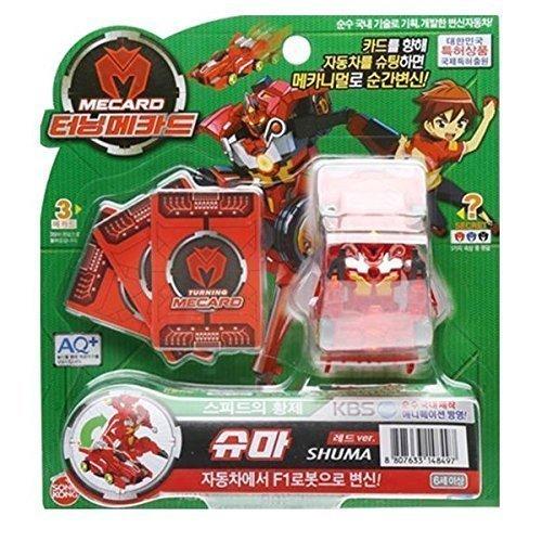 Turning MECARD SHUMA Red - Korean Made TV Kids Animation Toy by Sonokong