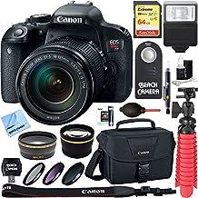 Canon EOS Rebel T7i Digital SLR Camera Video Creator Kit + 18-55mm Zoom Lens Accessory Bundle (18-135mm Lens & Accessory Kit)