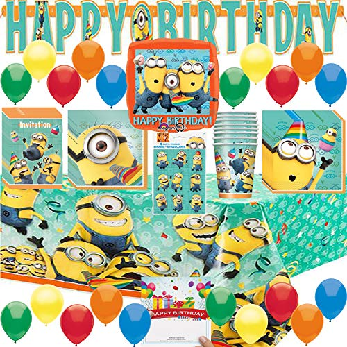 Combined Brands Despicable Me 3 Deluxe Minion Party Pack Bundle]()