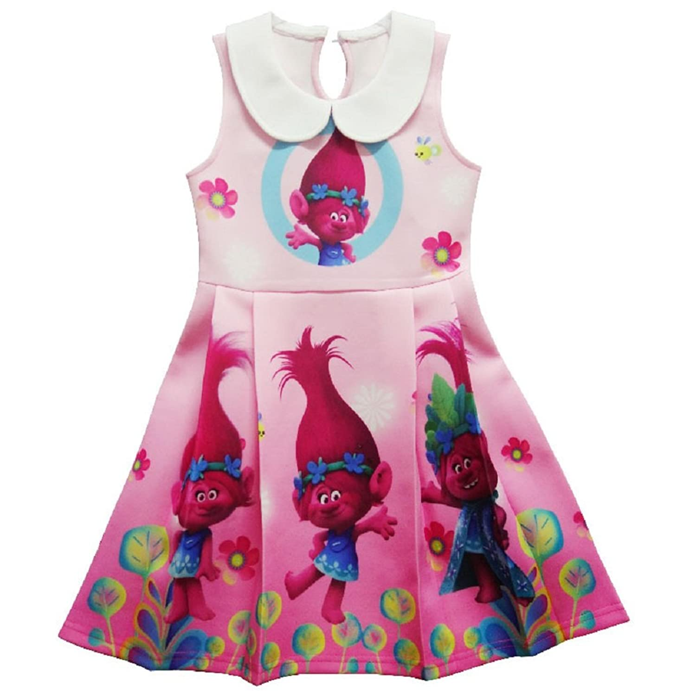 Amazon.com: Girls Kids Princess Poppy Trolls Sleeveless Party ...