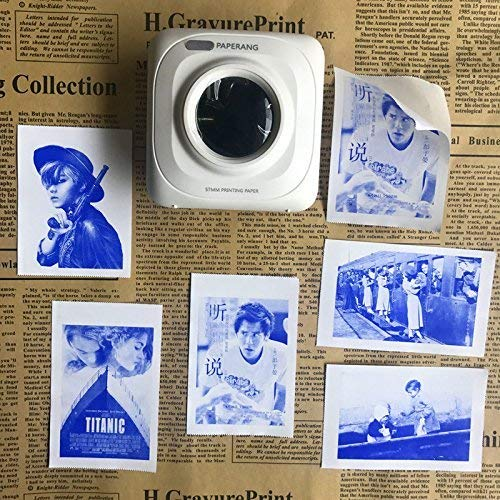 Kldstar Mini Impresora Bluetooth - Papel Impresión Foto Portátil ...