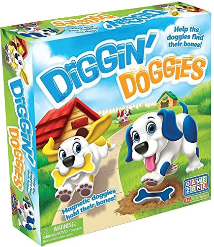 Game Zone Diggin' Doggies Board Game Diggity Dog Toy