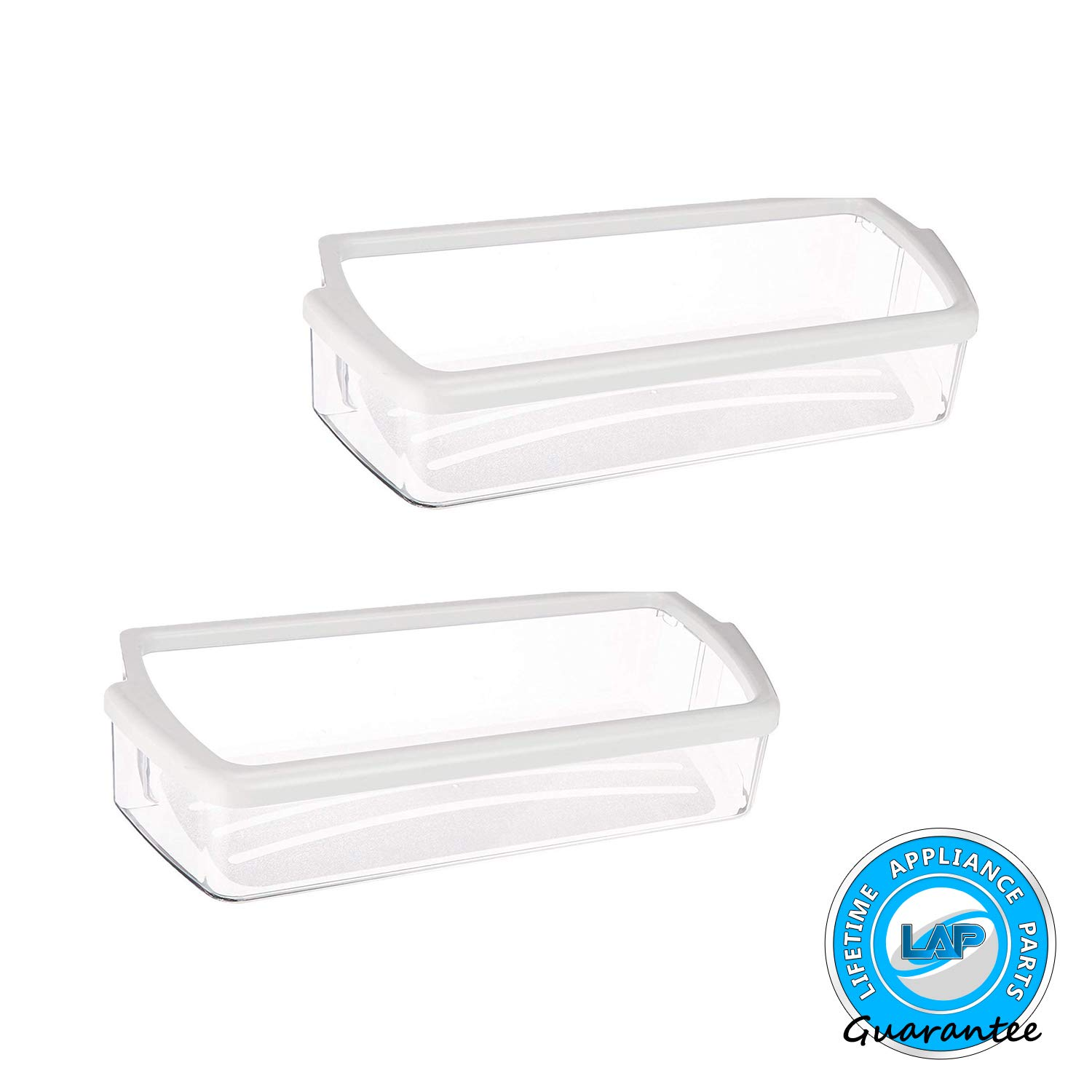 Lifetime Appliance 2 x Ultra Durable W10321304 Door Shelf Bin for Whirlpool Refrigerator - WPW10321304