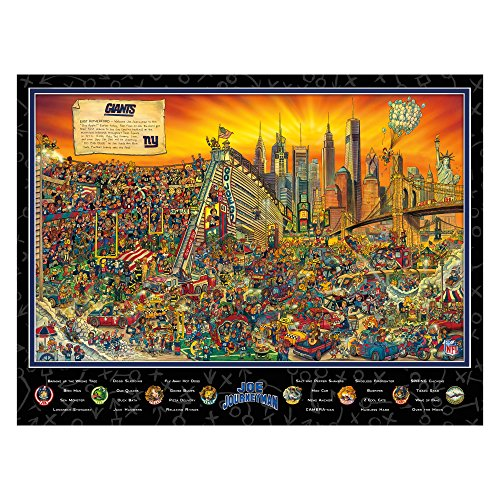 Joe Journeyman NFL New York Giants Jigsaw Puzzle, 500-Piece