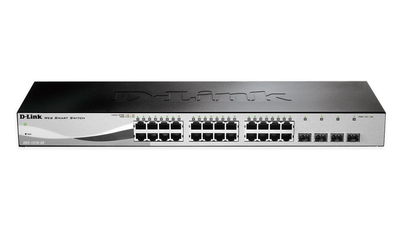 D-Link Systems 28-Port Gigabit Web Smart Switch including 4 Gigabit SFP Ports (DGS-1210-28) by D-Link