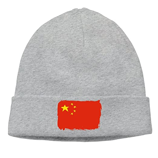 3213497b116b9 Sincerity-First Mens Womens China Flag Outdoor Daily Beanie Hat Skull Cap  Ash