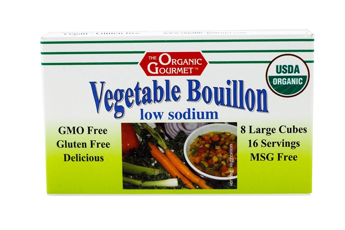 Organic Gourmet Vegetable Bouillon, Low Sodium, 8 Cubes (Pack of 12)