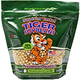 Tiger Soybeans Premium Certified Non-GMO Whole Soybeans for Soy Milk Grown in USA (1 Pack)