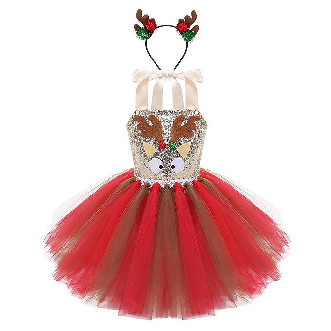 dPois Disfraz Reno Ciervo de Navidad Halloween para Niña ...