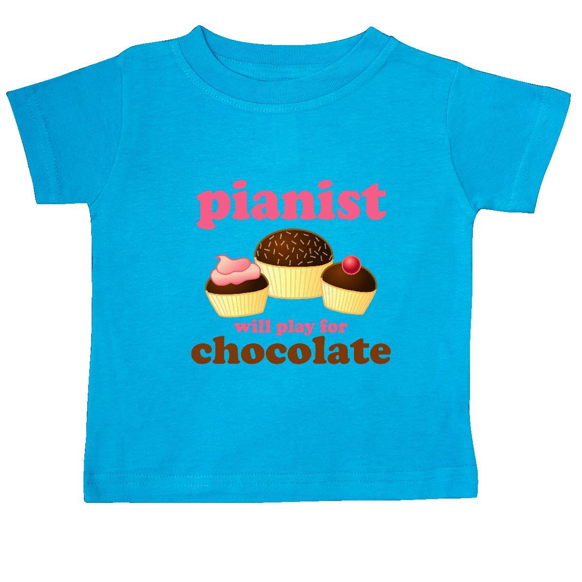 inktastic Piano Student Music Gift Play for Chocolate Baby T-Shirt