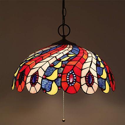 Tiffany Lamp Phoenix Tail Juego de Apliques de Pared Lámpara ...