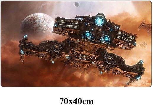 SJDY Alfombrilla de ratón Starcraft Ⅱ Juego Mousepad Grande 70x40cm Lavable Bloqueo Edge Duradero Alfombrilla de ratón Gamer Oficina Ordenador portátil frío Mat turística (Color : Black): Amazon.es: Electrónica