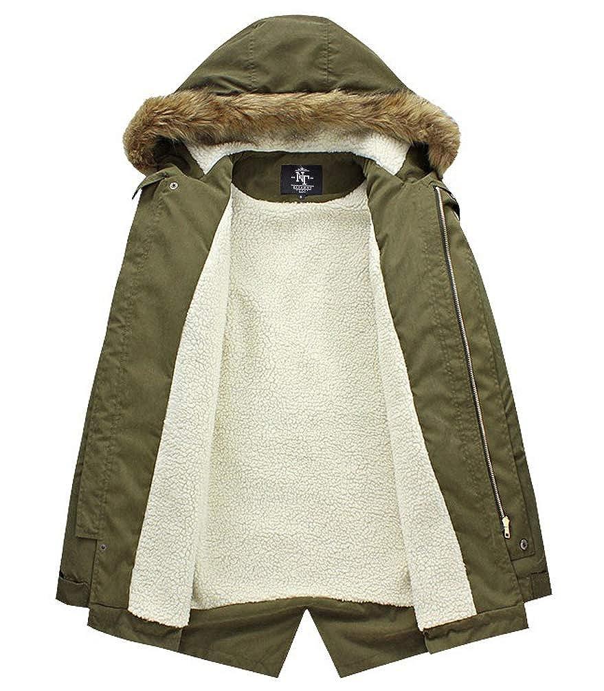 Amazon.com: NITAGUT - Abrigo de invierno con capucha para ...