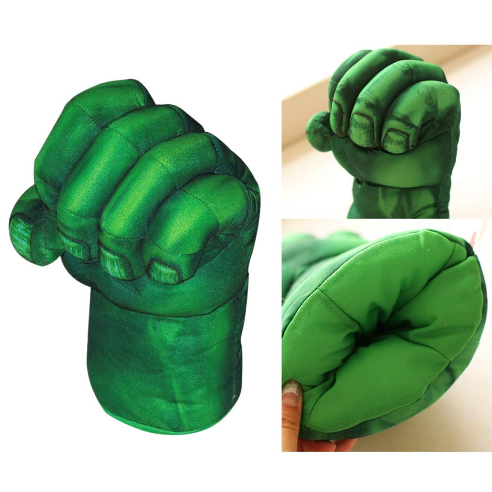 Urmagic 1 Pair Fist Gloves Hulk Smash Hands Cotton Plush Gloves for Kids Cosplay Gloves