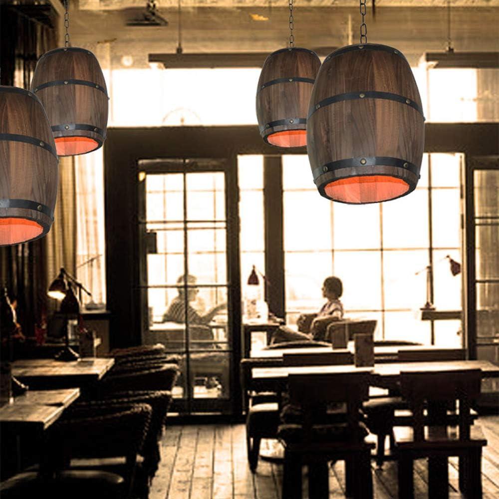 en Option 250 250mm 110V//220V yorten Creative R/étro Distinctive Bois Tonneau /À Vin Suspendus Plafond Pendentif D/écoration Lampe /Éclairage Bar Restaurant Caf/é Lumi/ère 300
