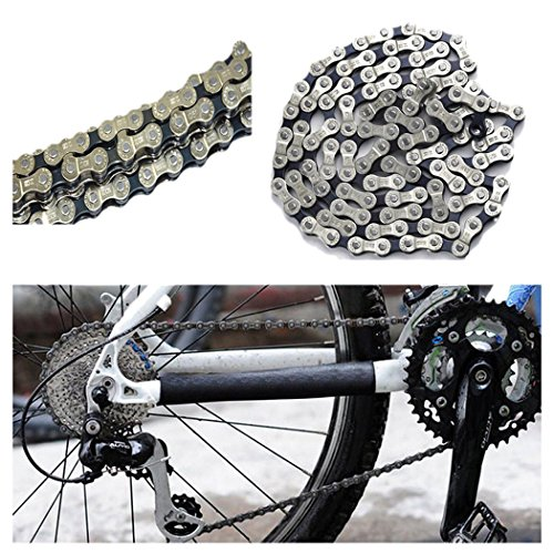 Bike Chain, Inkach Bicycle Chain 6 7 8 Speed 116 Links for MTB Mountain Road Bike Steel Chain