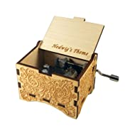 TheLaser'sEdge Hedwig's Theme, Personalizable Music Box, Laser Engraved Birch Wood (Ornate Standard)