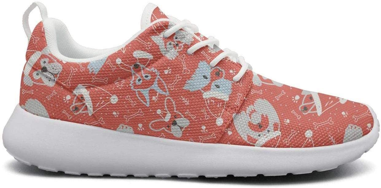 Red Christmas Dog Tennis Shoes
