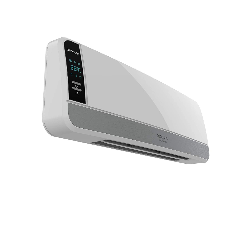 Ready Warm 5250 Swing Box Ceramic Protecci/ón sobrecalentamiento Oscilaci/ón Pantalla Digital IPX2 Temporizador Calefactor cer/ámico de Pared de 2000 W 3 Modos Mando a Distancia