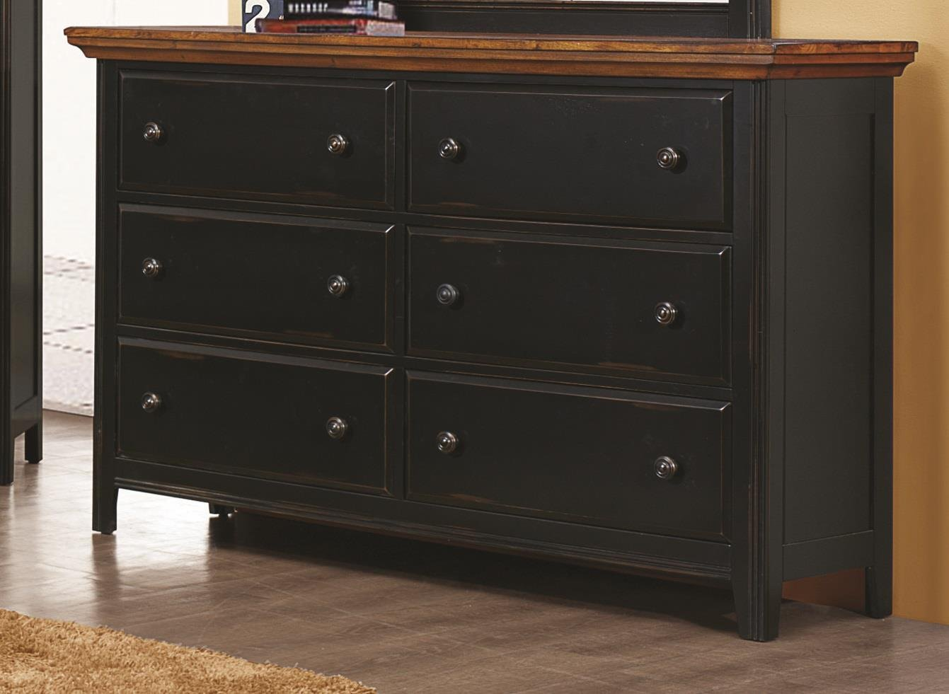 Amazon.com: Coaster Home Furnishings Rustic Dresser, Medium Oak and ...