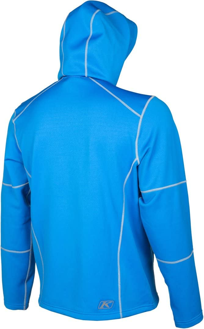 Klim Inferno Mens Hoody Zip Snowmobile Jacket Blue//X-Large