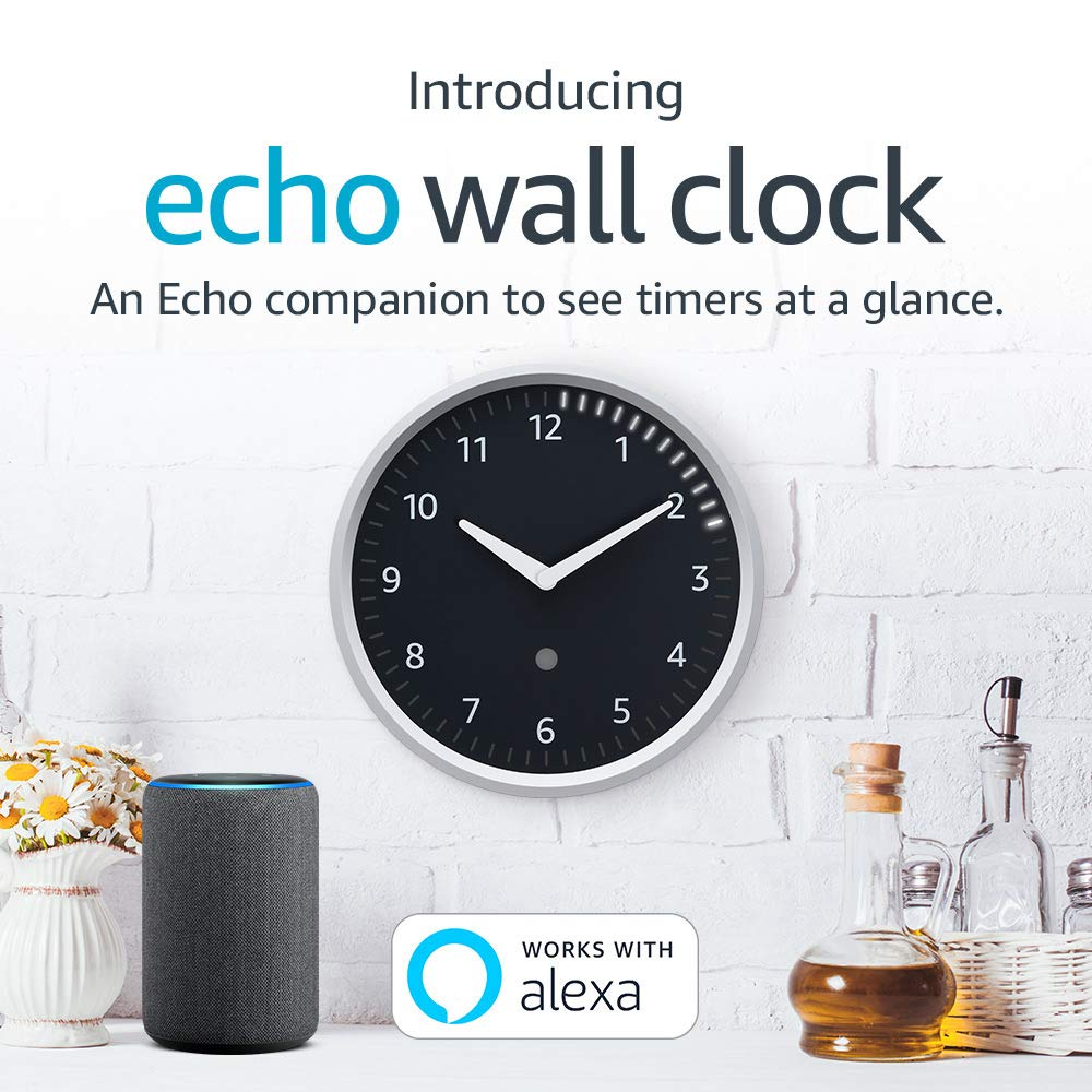 Echo Wall Clock/—see timers at a glance; requires compatible Echo device