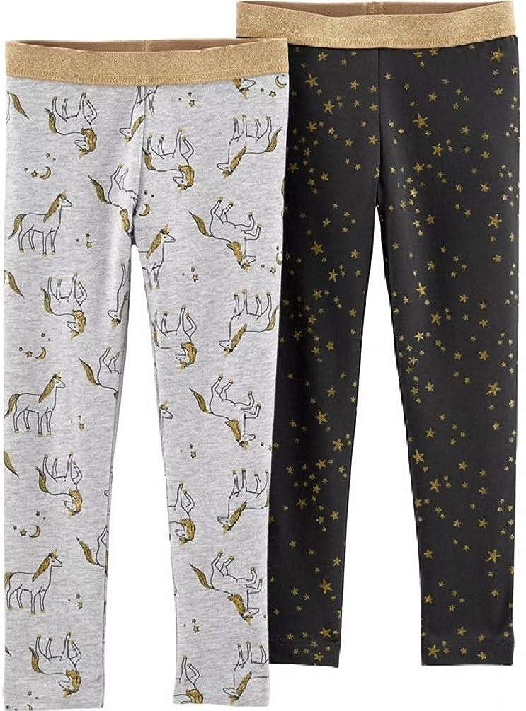 Carters Baby Girls 2-Pack Unicorn and Stars Leggings